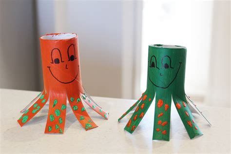 crafts to do with toilet paper rolls cardboard octopus critters my kid craft