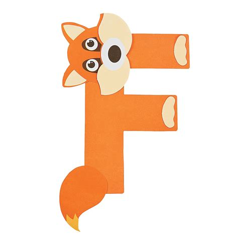 fox craft for f is for fox letter f craft kit trading