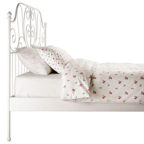 ikea white iron bed frame ikea leirvik bed frame white size iron metal country