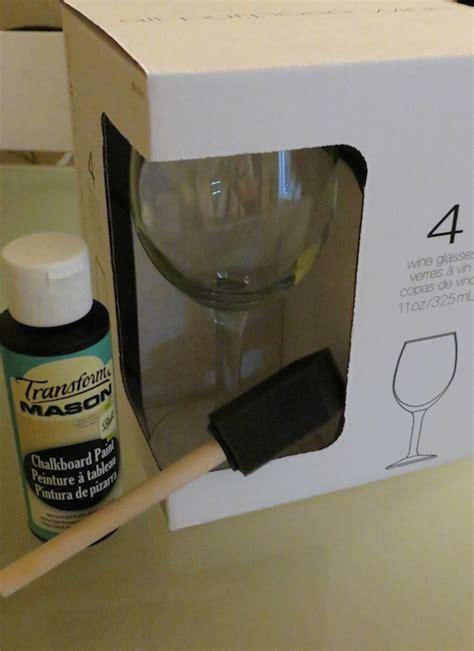 diy chalk paint glasses diy chalkboard wine glasses
