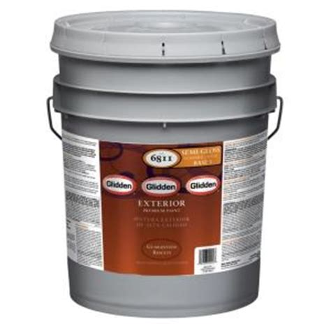 home depot 5 gallon interior paint glidden premium 5 gal semi gloss exterior paint gl6811 05 the home depot
