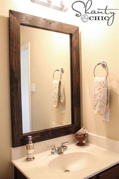 Framed Bathroom Mirror Ideas by Diy Framed Oval Bathroom Mirror Diy Do It Your Self