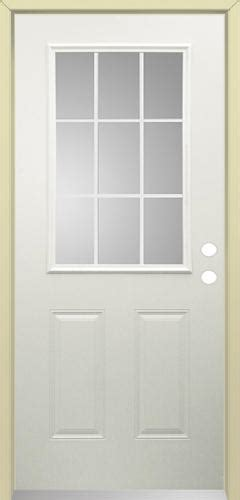 menards mastercraft exterior doors mastercraft i 4 steel 9 lite prehung ext door at menards 174