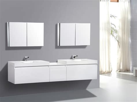 Bathroom Double Sink Vanities 60 Inch by Beautiful Modern Bathroom Decors With Wall Mounted Mirror