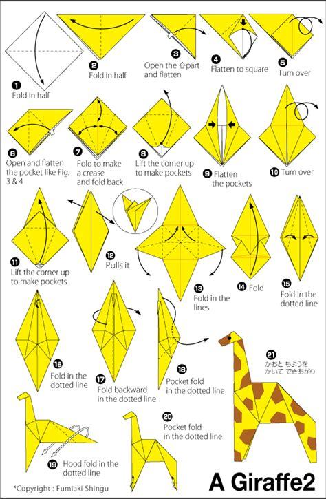 how to make origami giraffe giraffe 2 easy origami for