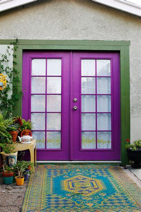 door color cool purple color front door ideas