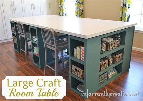 craft table with storage for diy craft room storage table the inspired room