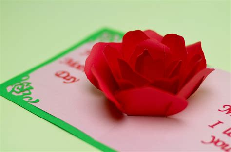 how to make a flower pop up card flower pop up card tutorial creative pop up cards