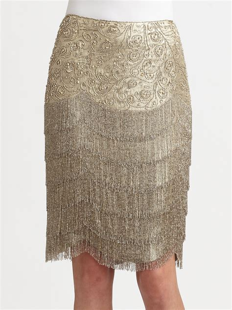beaded skirts ralph collection beaded theresa skirt in silver