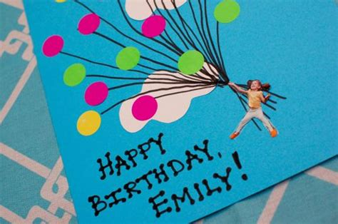 how to make a card fly around you easy balloon birthday card inner child