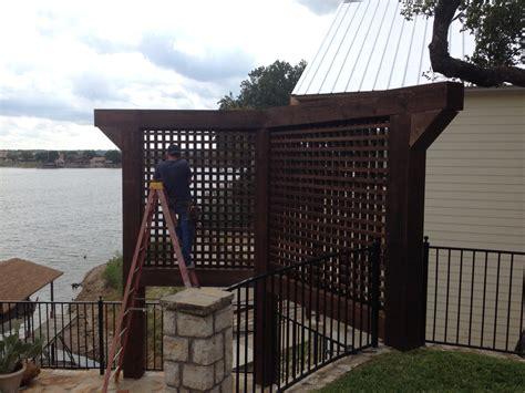 privacy screens for backyards cedar privacy screens for a backyard retreat