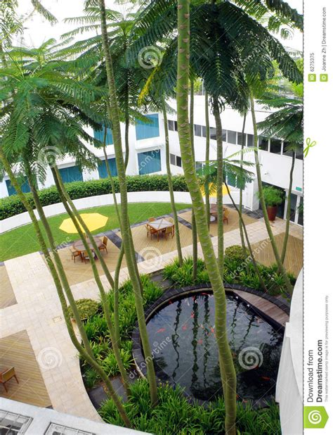 roof top garden design royalty free stock photo image