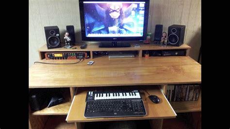 tv studio desk recording studio desk tv stand with led lights