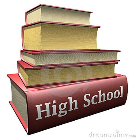 school picture books education books high school royalty free stock image