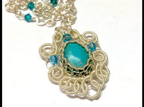 how to make filigree jewelry turquoise filigree pendant wire jewelry tutorial