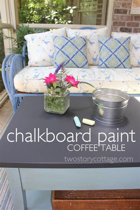 chalkboard paint table two story cottage chalkboard coffee table