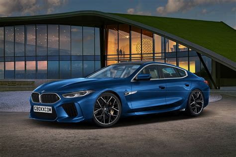 M8 Gran Coupe by Bmw M8 Gran Coupe Puts On A Production Ready Blue Suit