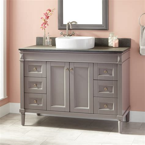 gray bathroom vanities 48 quot chapman vessel sink vanity gray vessel sink