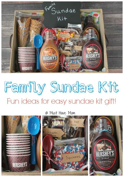 family gifts ideas diy family sundae kit gift idea gift basket ideas and