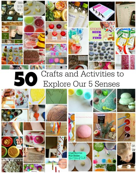 crafts and activities for 50 crafts and activities to explore our 5 senses make