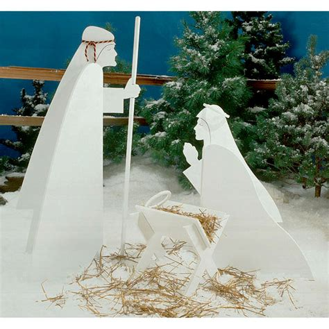nativity pattern woodworking plans nativity large format paper woodworking plan from