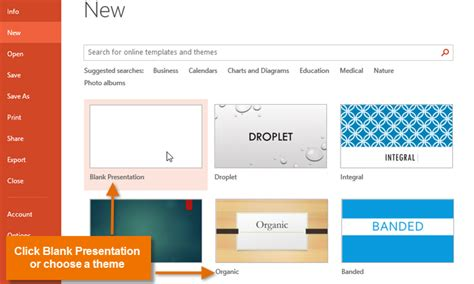 powerpoint 2013 creating and opening presentations page 1