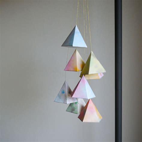 hanging paper craft diy hanging geometric paper shapes crafts