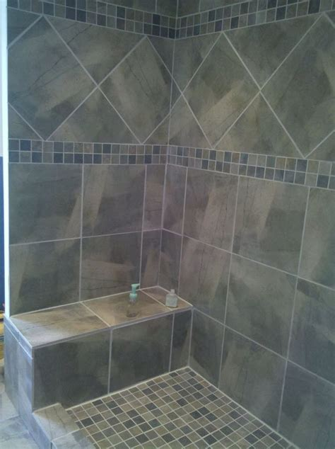 Ceramic Tile Shower Design Ideas by 40 Gray Shower Tile Ideas And Pictures