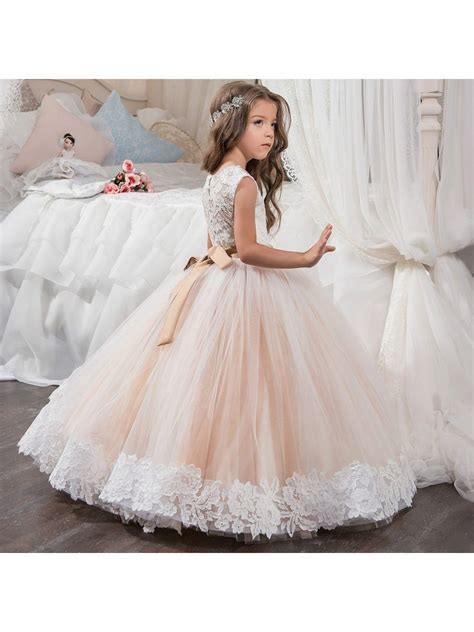 beaded flower dresses beaded lace princess gown flower dresses 5501016