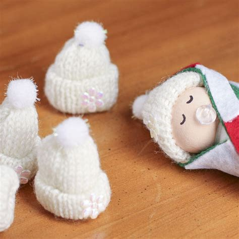 Tiny White Knitted Hats Doll Accessories Doll