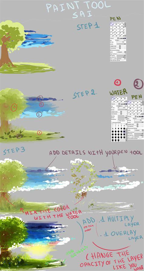 paint tool sai background brushes background tutorial with sai by kirimimi on deviantart