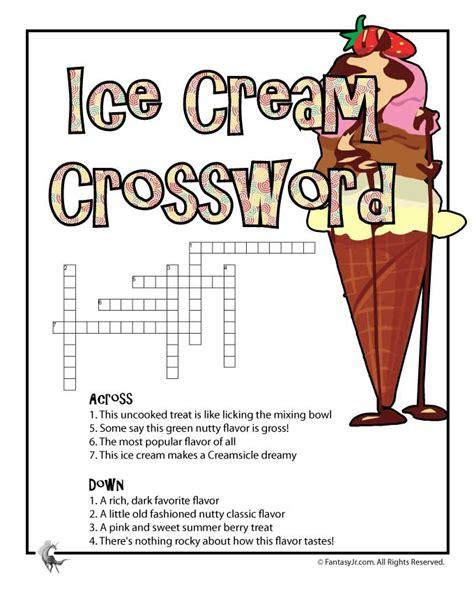 ice cream printable crossword puzzle woo jr kids