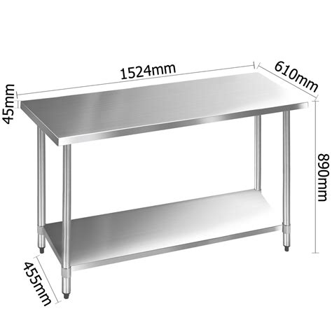 stainless steel kitchen work table 304 stainless steel kitchen work bench table 1524mm