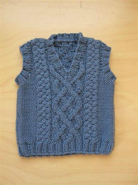 aran vest knitting pattern aran vest free knitting patterns