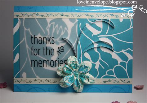 how to make a farewell card in envelope thanks for the memories a goodbye