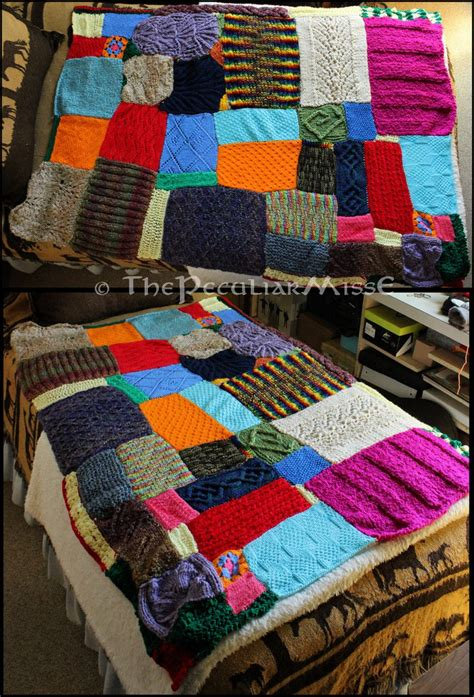 knitting patterns for leftover yarn scrap yarn blanket by thepeculiarmisse on deviantart