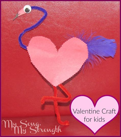 january crafts for my song my strength flamingo s day craft for