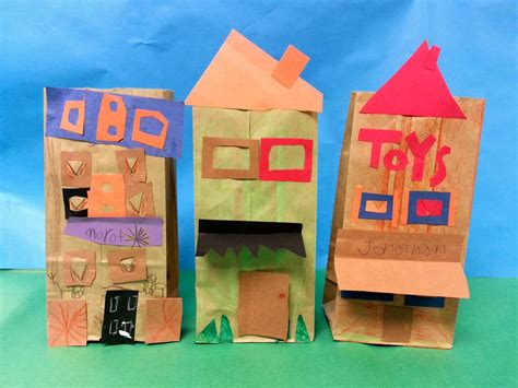 architecture crafts for paper bag buildings 1st with mrs nguyen