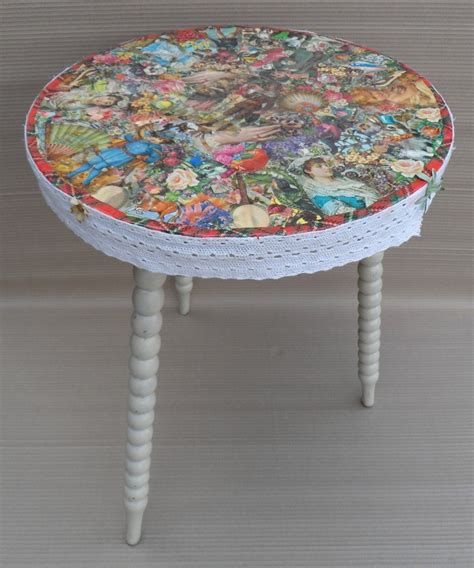decoupage table small kitchen table kitchen wallpaper