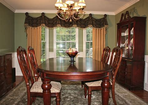 dining room curtain ideas bay window curtain ideas dining room traditional with bay