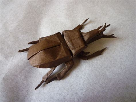 origami beetle 24 more amazingly realistic looking origami insects