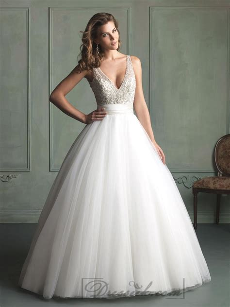 beaded gown wedding dresses v neck and v back beaded bodice gown wedding