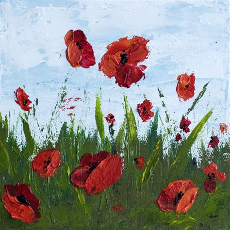 acrylic painting easy flower how to paint poppy flowers with acrylic paint and a