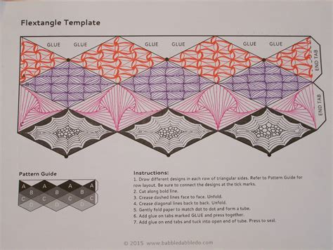 designs to make tangles and more tangling for flextangles and tri