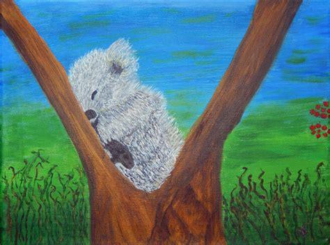 acrylic painting reproduction koala on canvas acrylic painting reproduction by