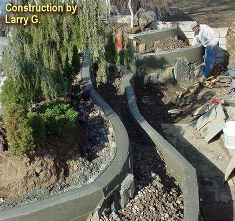 concrete garden walls retaining walls and backfill