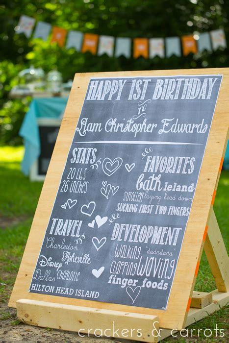 diy chalkboard birthday sign chalkboard birthday poster diy crackers carrots