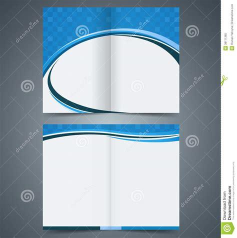 bifold brochure template design business leaflet stock