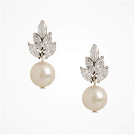 earrings with vintage pearl drop earrings bocheron pearl earrings