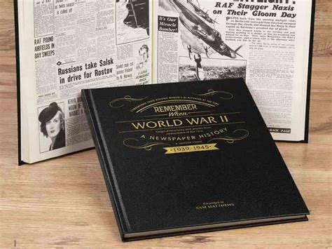 world war 2 picture books personalised world war ii history book historic newspapers